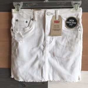 Girl's, mini jean skirt
